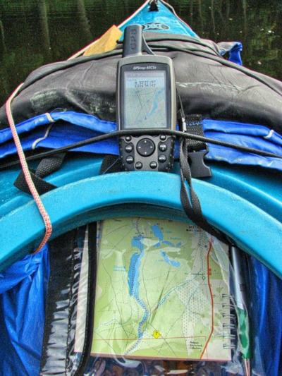 Best Kayak GPS - GPS sitting on a kayak